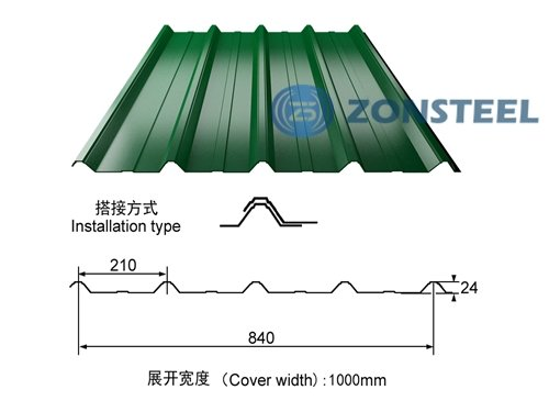 Corrugated Sheet 840 Type for Roof