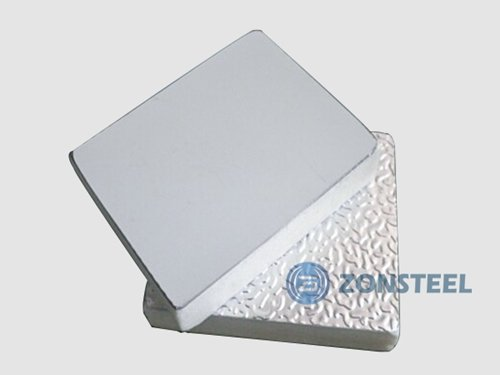 Duct Panel with Steel and Aluminum Foil Surface