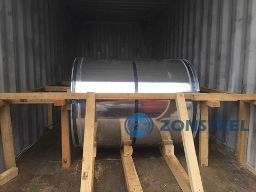 How Steel Coil Packed in Container