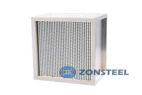 High Efficiency Filter with Partition