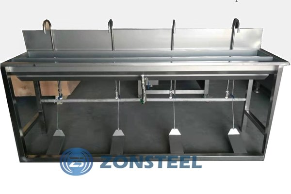 4 Pedal Stainless Steel Basin