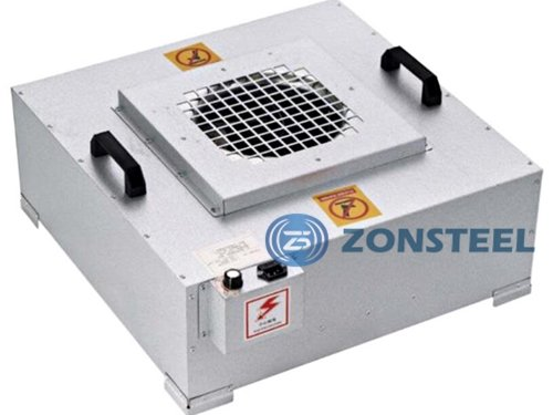 Cleanroom equipment - a fan filter unit with HEPA filter