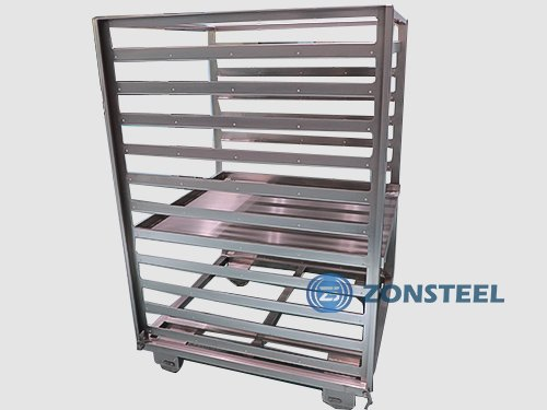 A Cleanroom Rack with Wheels for Ease of Movement