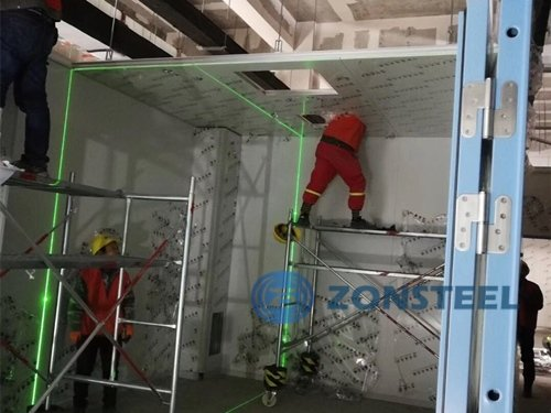 Clean Room Panels installation