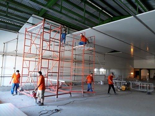 Sandwich Panel Ceiling Installation