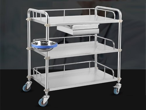 A Stainless Steel Cleanroom Trolley