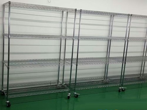 Cleanroom Racks Set Up in a Gowning Room
