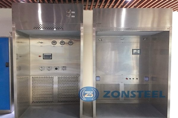 Installed Zonsteel weighing room in a room