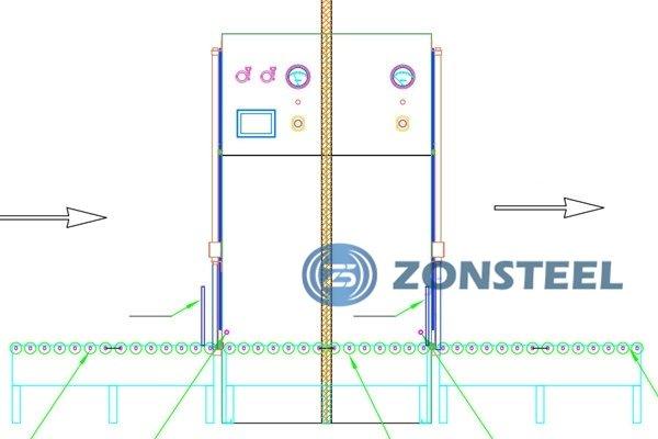 Roller Type Pass Box Diagram