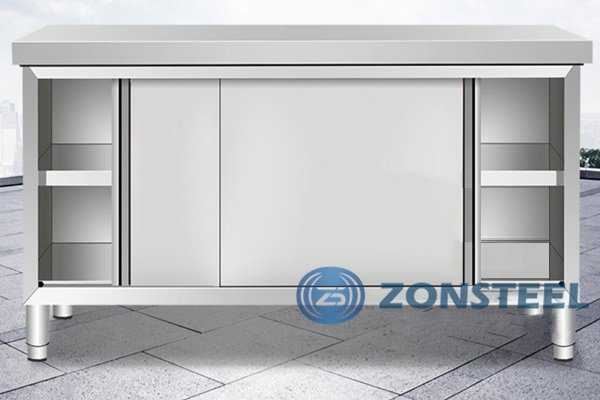 Stainless Steel Cleanroom Tables with Storage