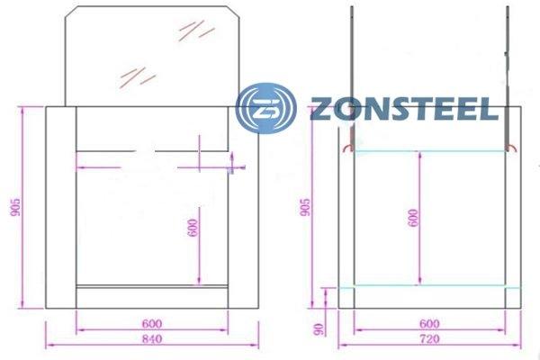 Pass Box With Lift Door Diagram