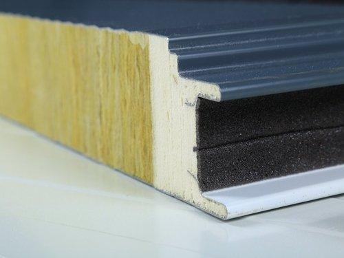A Sample of Rock Wool Panel Sealed by PU Foam